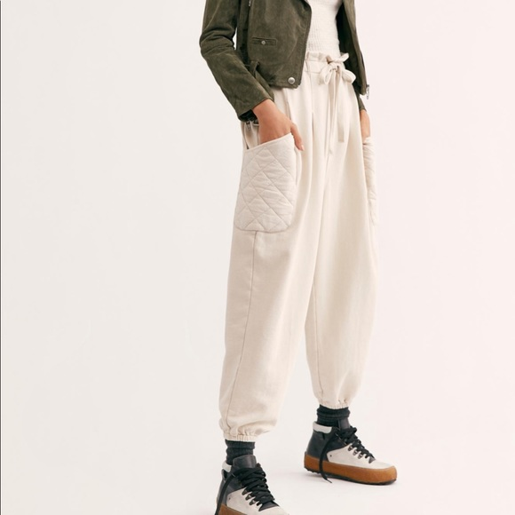 Free People Pants - Rare Free People Mckenzi Quilted Pocket Pants